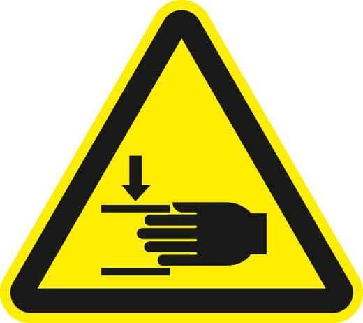 Warnung vor Handverletzungen 7112F20 Seiten-Länge: 200 mm