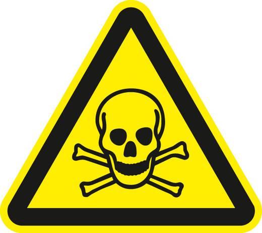 Warnung vor giftigen Stoffen 7101F10 Seiten-Länge: 100 mm