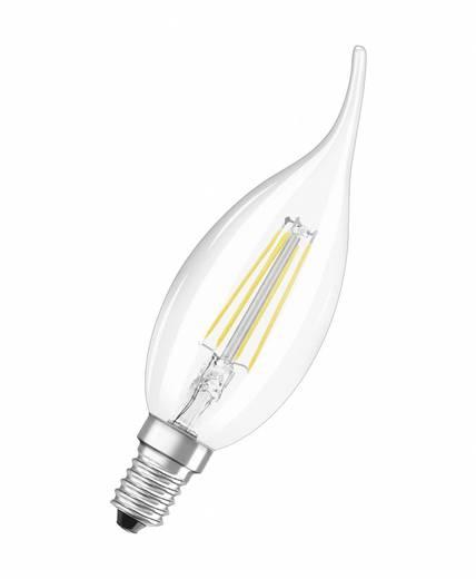 OSRAM LED E14 Kerzenform Windstoß 4 W = 40 W Warmweiß (Ø x L) 35 mm x 119 mm EEK: A++ Filament 1 St.
