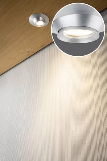 LED-Einbauleuchte 3er Set 11.4 W Warm-Weiß Paulmann Focus 93579 Aluminium (gebürstet)