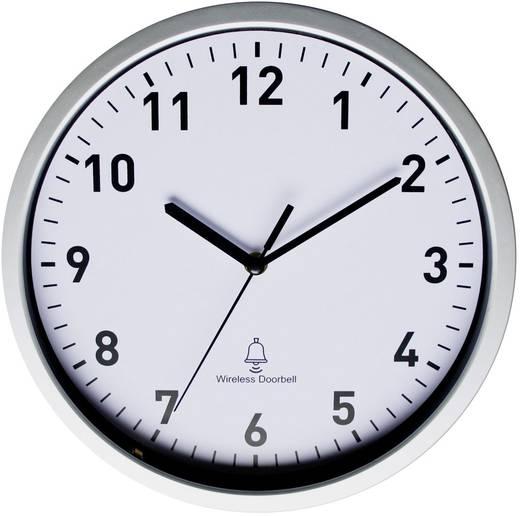 Funk Wanduhr EuroTime 51202 30 cm x 5 cm Silber Türklingel