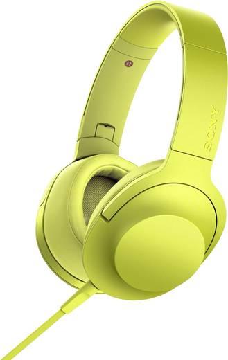 Kopfhörer Sony hear on MDR-100AAP On Ear Faltbar, High-Resolution Audio, Headset Gelb