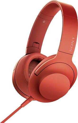 Sony hear on MDR-100AAP Kopfhörer On Ear Faltbar, High-Resolution Audio, Headset Rot