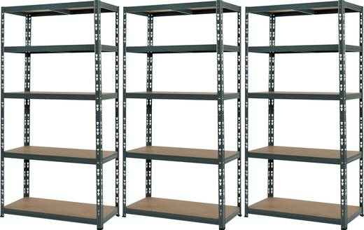 3x Schwerlastregal 265 kg Abmessungen (H x B x T): 1800 x 900 x 450 mm
