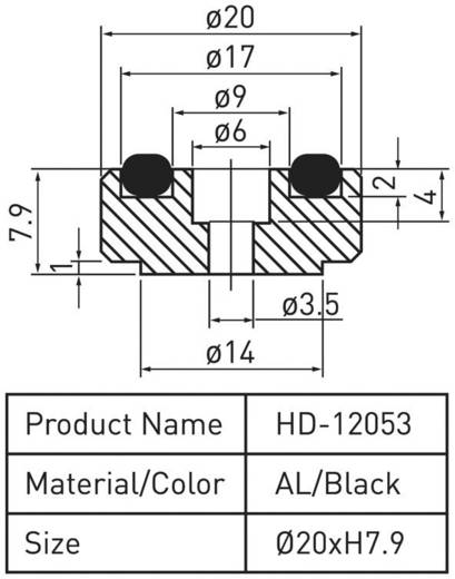 Gerätefüße Dynavox mini schwarz 4er-Set