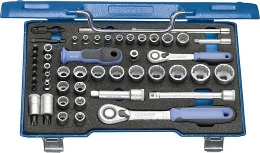 """Steckschlüsselsatz metrisch 3/8"""" (10 mm), 1/4"""" (6.3 mm) 50teilig Gedore 2075695"""