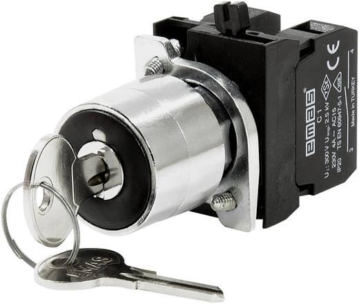 Schlüsselschalter 230 V/AC 4 A 2 x (Ein)/Aus/Ein 2 x 45 ° EMAS CM101AA31 IP65 1 St.