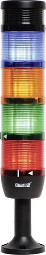 LED-Signalsäule 4-fach, mit Summer Rot, Gelb, Grün, Blau 24 V DC/AC EMAS IK74L024ZM01 1 St.
