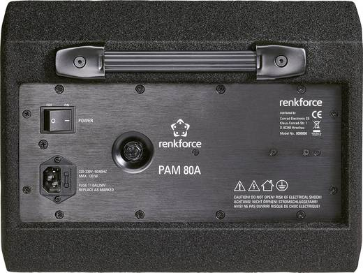 Aktiver Bühnenmonitor 20.32 cm 8 Zoll Renkforce PAM 80A 70 W 1 St.