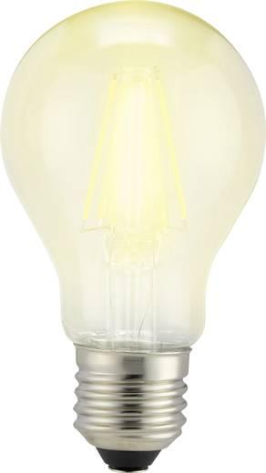 LED E27 Glühlampenform 6 W = 60 W Warmweiß (Ø x L) 60 mm x 105 mm EEK: A++ Sygonix Filament 3 St.