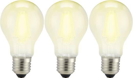 Sygonix LED E27 Glühlampenform 6 W = 60 W Warmweiß (Ø x L) 60 mm x 105 mm EEK: A++ Filament 3 St.