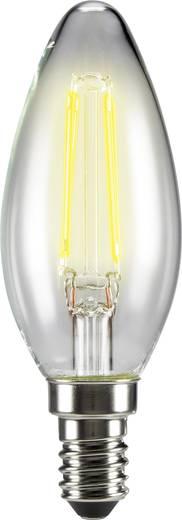 Sygonix LED EEK A++ (A++ - E) E14 Kerzenform 4 W = 37 W Warmweiß (Ø x L) 35 mm x 99 mm Filament 3 St.