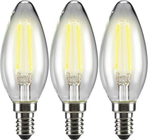 Sygonix LED E14 Kerzenform 4 W = 37 W Warmweiß (Ø x L) 35 mm x 99 mm EEK: A++ Filament 3 St.