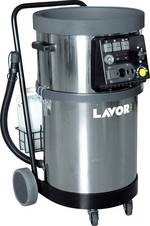 Large industrial steam cleaner for professional use in factory halls and offices.