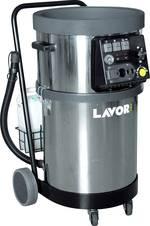 Grand nettoyeur à vapeur industriel pour une utilisation professionnelle dans les ateliers et les bureaux.