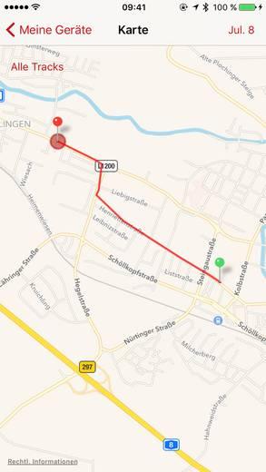 GPS Tracker velocate VC1 Fahrzeugtracker Rot