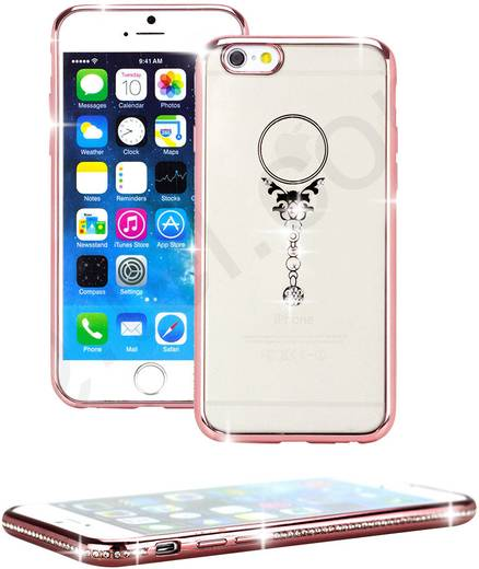 iPhone Backcover Perlecom Blume Passend für: Apple iPhone 6 , Apple iPhone 6S,