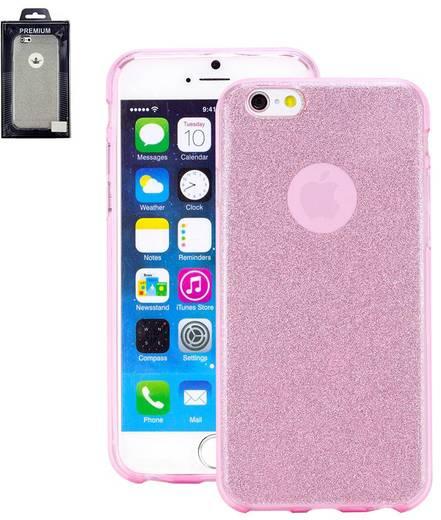 iPhone Backcover Perlecom Passend für: Apple iPhone 6, Apple iPhone 6S, Rosa, Glitzereffekt