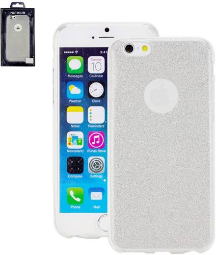 iPhone Backcover Perlecom Passend für: Apple iPhone 6 , Apple iPhone 6S, Silber, Glitzereffekt