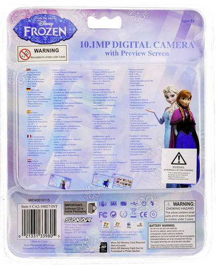 Digitalkamera Frozen by Disney CA2-10027 10 Mio. Pixel Türkis