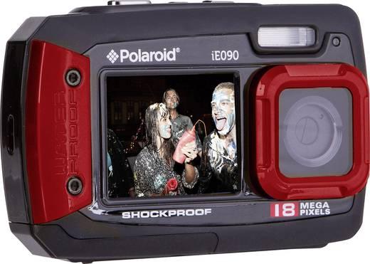 Digitalkamera Polaroid iE090 18 Mio. Pixel Schwarz/Rot Unterwasserkamera, Staubgeschützt, Frontdisplay