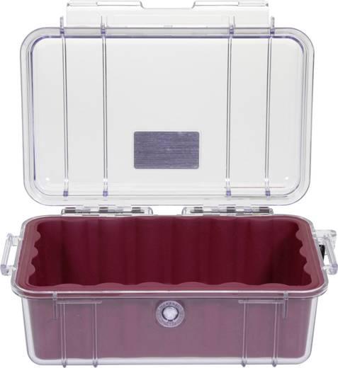 PELI Outdoor Box 050 1 l (B x H x T) 191 x 79 x 129 mm Rot, Transparent 1050-028-100E