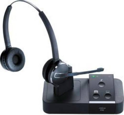Telefon-Headset DECT schnurlos, Mono Jabra PRO 9450 Flex Binaural Over Ear Schwarz