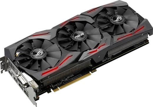 Asus Grafikkarte Nvidia GeForce GTX1080 Strix Overclocked 8 GB GDDR5X-RAM PCIe x16 HDMI™, DisplayPort, DVI