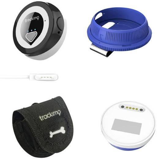 Trackimo Mini GPS Tracker Fahrzeugtracker, Haustiertracker, Personentracker Blau, Weiß