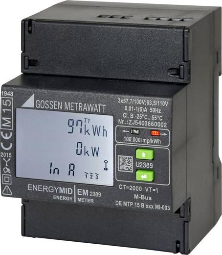 Drehstromzähler mit Wandleranschluss digital MID-konform: Ja Gossen Metrawatt U2387-V022