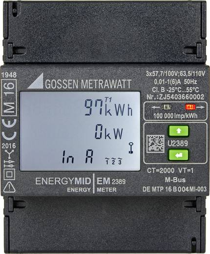 Drehstromzähler mit Wandleranschluss digital MID-konform: Ja Gossen Metrawatt U2389-V026