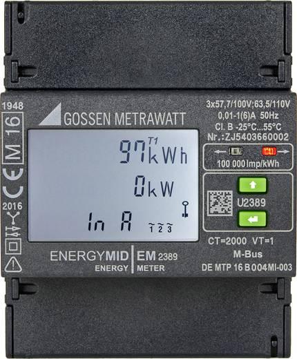 Gossen Metrawatt U2389-V026 Drehstromzähler mit Wandleranschluss digital MID-konform: Ja