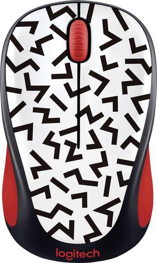 Funk-Maus Optisch Logitech M238 Zigzag Red Weiß, Rot