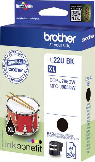 Brother Tinte LC-22U BK Original Schwarz LC22UBK