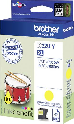 Brother Tinte LC-22U Y Original Gelb LC22UY
