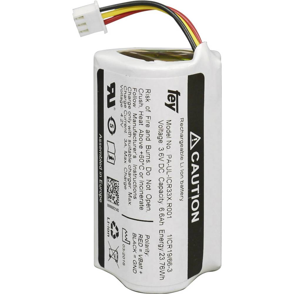 Battery pack 3x 18650;Plug;Li-ion;Fey Elektronik;NCR-18650BF;3.6 V ...