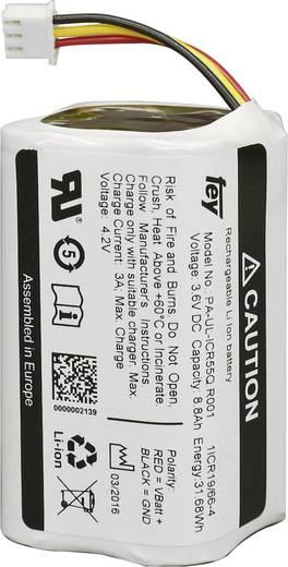 Akkupack 4x 18650 Stecker Li-Ion Fey Elektronik NCR-18650BF 3.6 V 13400 mAh