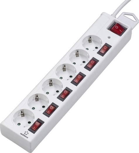 Überspannungsschutz-Steckdosenleiste 6fach Weiß Schutzkontakt Renkforce