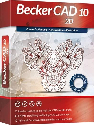 Markt & Technik Becker CAD 10 2D Vollversion, 1 Lizenz Windows CAD-Software