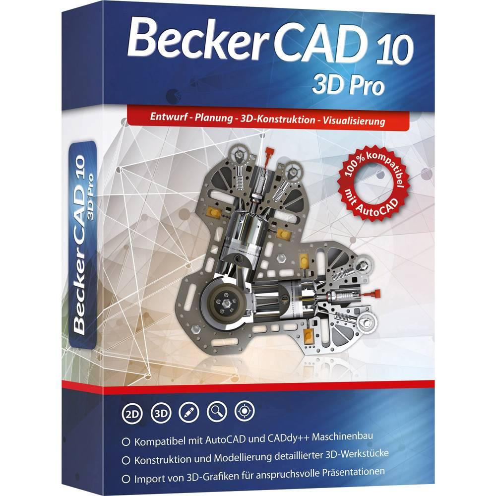 markt technik becker cad 10 3d pro vollversion 1 lizenz windows cad software im conrad online. Black Bedroom Furniture Sets. Home Design Ideas