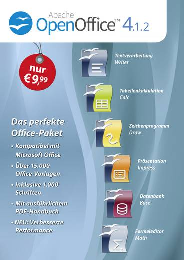Markt & Technik OpenOffice 4.1.2 Vollversion, 1 Lizenz Windows Office-Paket
