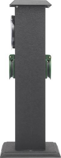 basetech gartensteckdose mit zeitschaltuhr 2fach schwarz. Black Bedroom Furniture Sets. Home Design Ideas