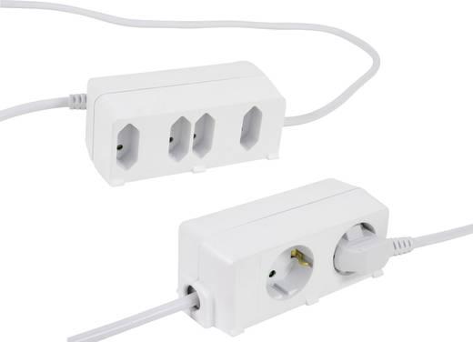Steckdosenleiste ohne Schalter 6fach Weiß Schutzkontakt REV - Everflourish 12691109