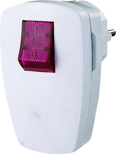 Schutzkontakt-Winkelstecker Kunststoff mit Schalter 230 V Weiß IP20 GAO EMP100SWL