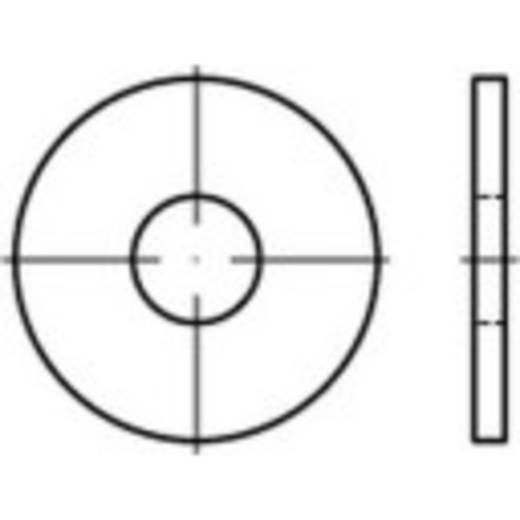 Unterlegscheiben Innen-Durchmesser: 15 mm DIN 9021 Stahl galvanisch verzinkt, gelb chromatisiert 100 St. TOOLCRAFT 1