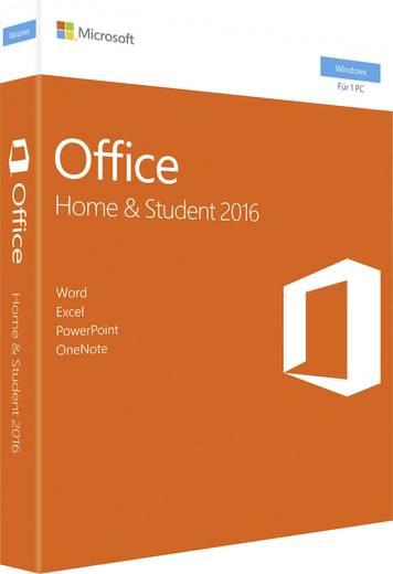 Microsoft Office Home & Student 2016 Vollversion, 1 Lizenz Windows Office-Paket