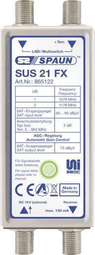 SAT Multischalter Unicable Spaun SUS 21 FX Eingänge (Multischalter): 3 (2 SAT/1 terrestrisch)