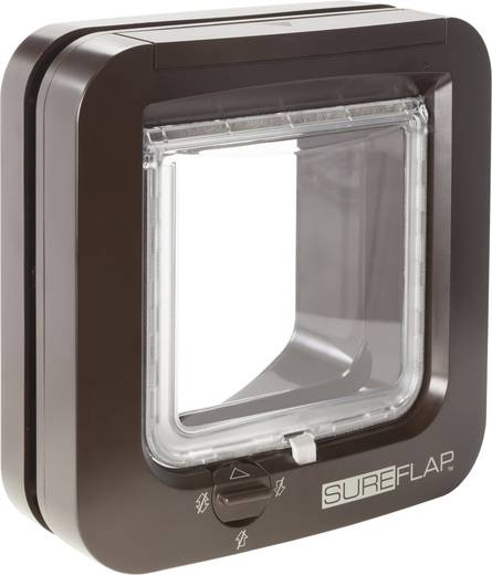 haustierklappe sureflap mikrochip cat door braun 1 st kaufen. Black Bedroom Furniture Sets. Home Design Ideas