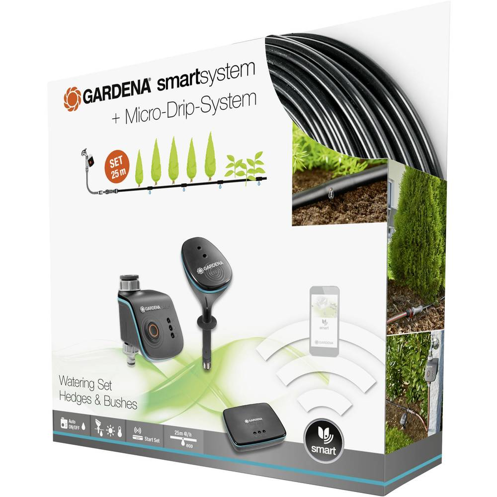 gardena smartsystem smart watering set pflanzenreihe 19104. Black Bedroom Furniture Sets. Home Design Ideas