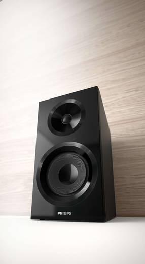 Stereoanlage Philips izzy BM60B AUX, Bluetooth®, CD, UKW, USB, Multiroom-fähig 130 W Schwarz